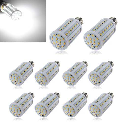 10X E27 12W White 60 SMD 5630 SinglyFire LED Corn Bulb 220V