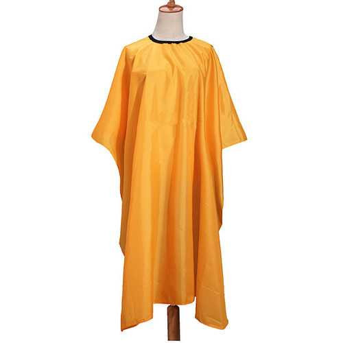 Yellow Sleeve Hair Cutting Cape Gown Cloth Barbers Hairdressing Tools
