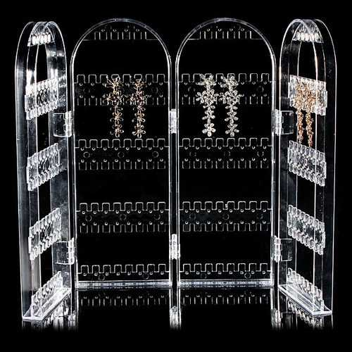 Acrylic Folded Display Stand Holder Ear Studs Earring Jewelry