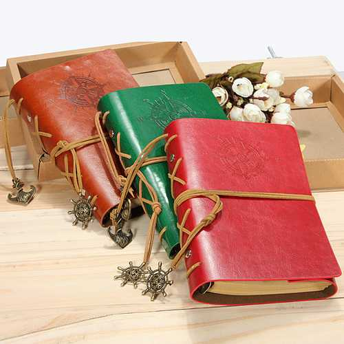 Classic Retro Vintage Leather Journal Notebook Diary Book