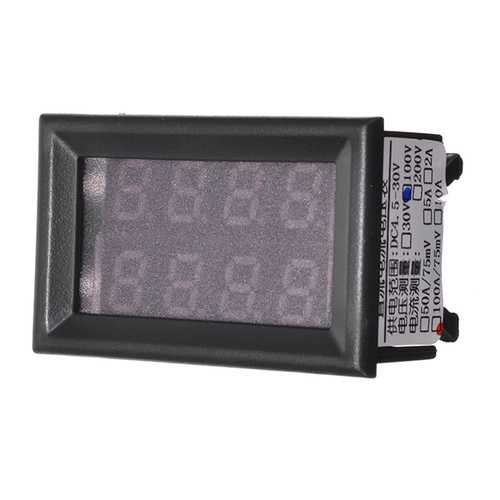 100V DC 12V Car Digital Volt Meterr Ammeter LED Light Amp Volt Meterr