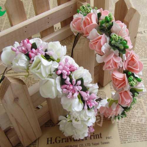 Boho Floral Flower Headbrand Garland Hair Head Band Wedding Hoop