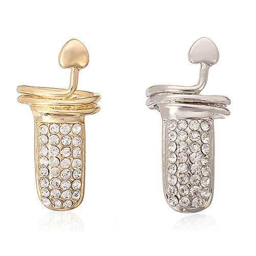 Gold Silver Rhinestone Heart Fingernail Ring Women Jewelry