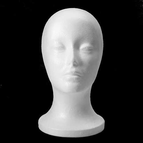 Female Styrofoam Foam Mannequin Head Model Wig Hair Glasses Hat Stand Display