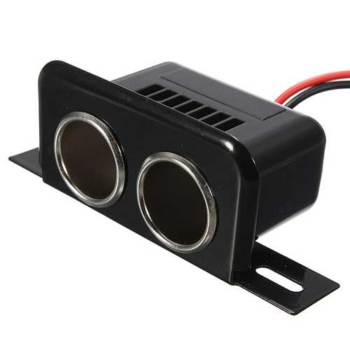 12V Car Motor Bike Tractor Boat Cigarette Lighter Double Socket Plug
