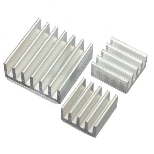 3pcs Adhesive Aluminum Heat Sink Cooler Kit For Cooling Raspberry Pi