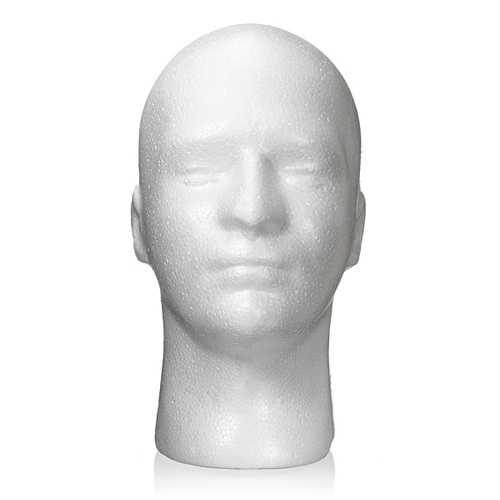 Male Styrofoam Foam Mannequin Stand Model Display Head