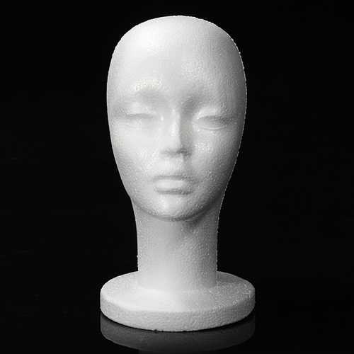 Female Foam Styrofoam Mannequin Cap Wig Head display Holder Model