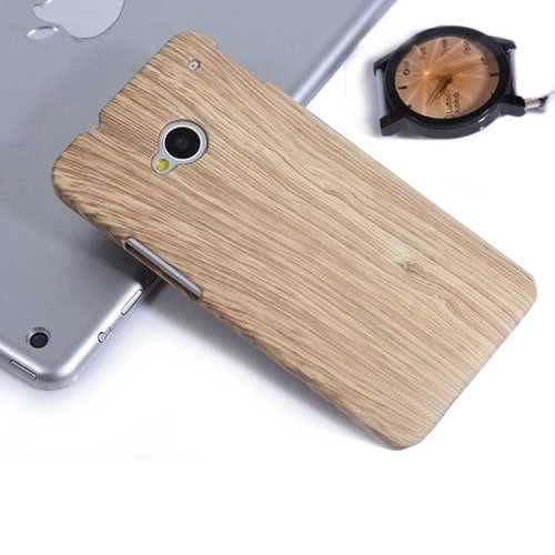 Wood Grain Protective Case For HTC One International Version