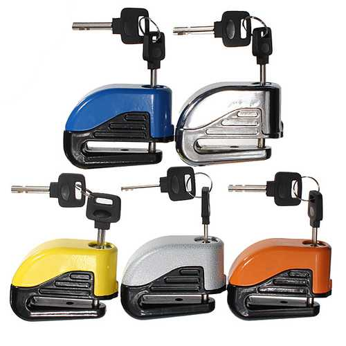 6mm Motorcycle Motor Bike Disc Electron Security Lock Alarm Metal