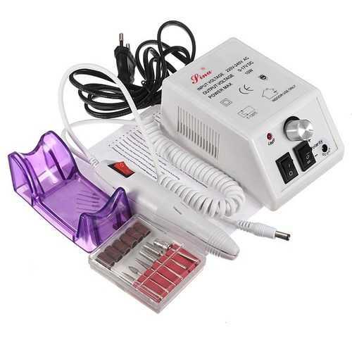 220V Pro Electric Drill Nail Art Machine Manicure Pedicure Kit Set