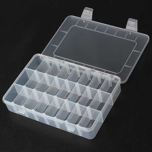 24 Compartments Storage Plastic Repair Tool Box For Mobile Phone