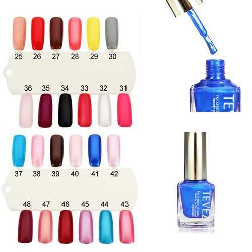 TEVEZ 25-48 Colors Nail Art Polish Nail Lacquer 15ML