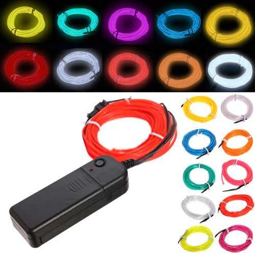 3M 10 colors Flexible Neon EL Wire Light Dance Party Decor Light