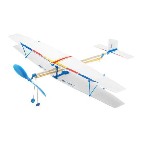 DIY Assembly Aircraft Powered By Rubber Band For Kids