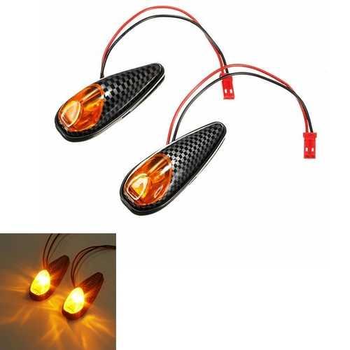 2x LED Universal Motorcycle Turn Signal Light Indicators Lamp Amber