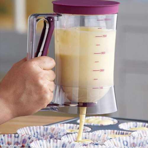 Cup Cake Batter Dispenser Pan Cake Cookie Cake Muffins Batter Dispenser Kitchen Easy Pour Kitchen Tool