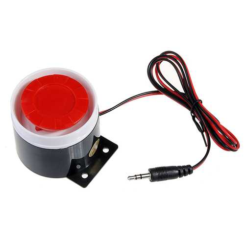 120dB 9V Wired Siren Horn Speaker for GSM Security System Alarm
