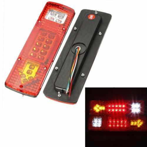 2X 12V 19 LED Car Truck Rear Light Indicator Lamp Yellow