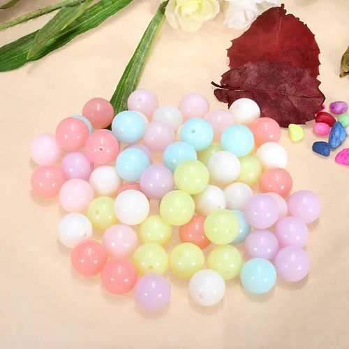 100G Mix Candy Color Acrylic Spacer Loose Beads DIY Jewelry Accessory