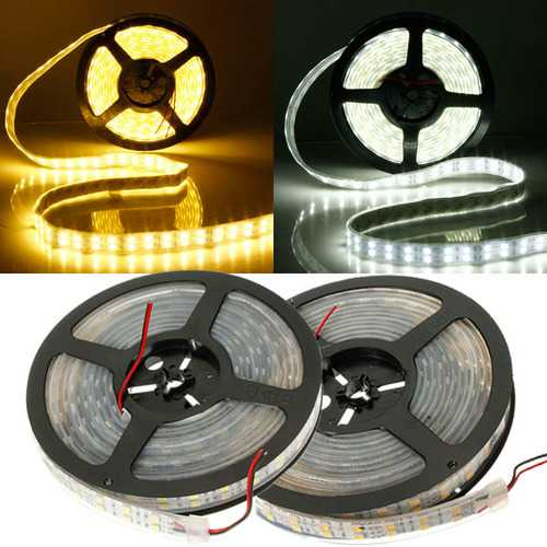 5M Double Row SMD 5050 600Leds LED Strip Light Waterproof 12V