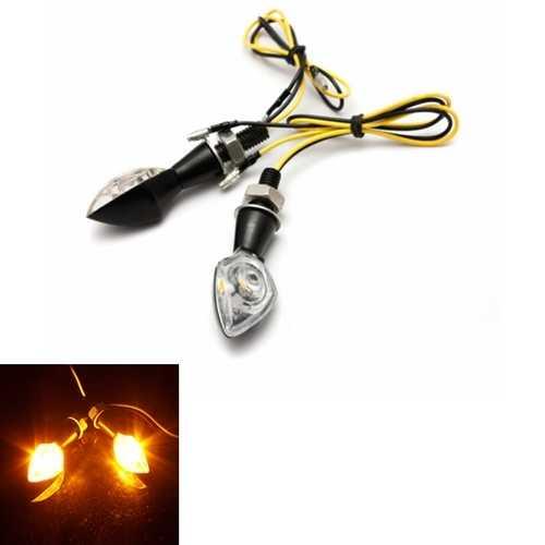 2x Universal Motorcycle LED Turn Signals Indicator Light E-mark 12V