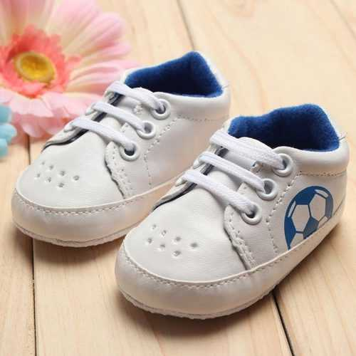 Baby Girl Boy Soft Soles Football Soccer Sneakers Crib Shoes