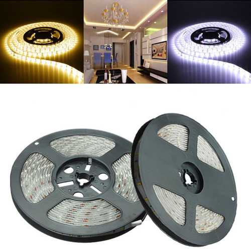 5M SMD 5630 300LED Strip Light Waterproof IP65 Felxible Lamp for Indoor Home Decor DC12V