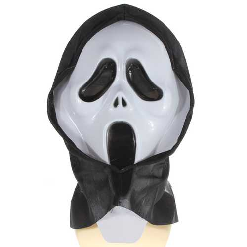 Crazy Scared Ghost Scream Face Mask Costume Party Halloween Carnival