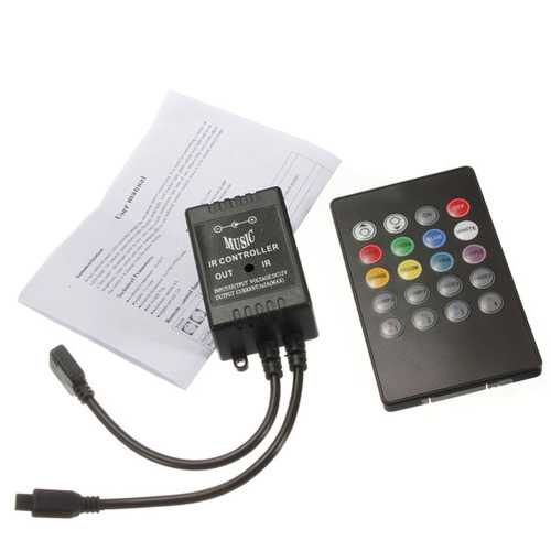 20 Key Music IR Remote Controller Sensor For 3528 5050 RGB LED Strip