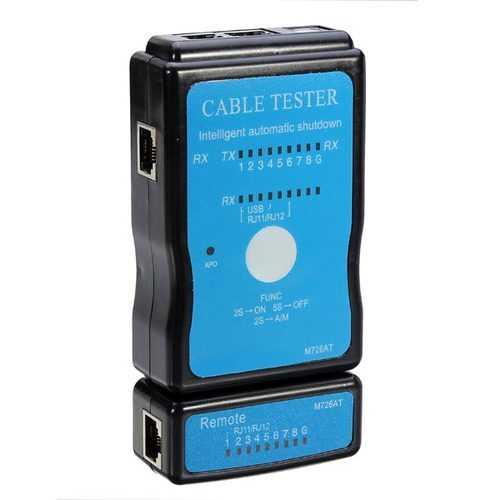 Cable Tester LAN USB RJ45 RJ11 RJ12 Network Ethernet CAT5