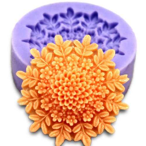 3D Mini Peony Fondant Mold Silicone Cake Chocolate Moulds Cake Decorating Baking Tool