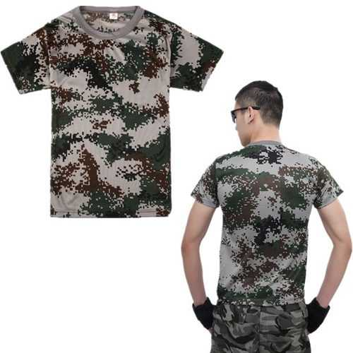 Tactical Military Shirts Outdoor Camouflage Short Sleeve T-Shirt
