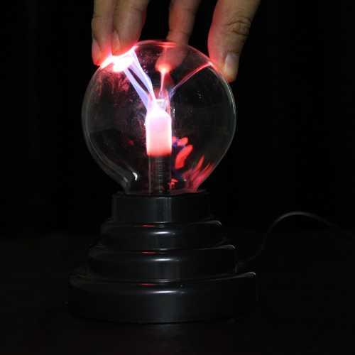 3 Inches USB Plasma Ball Sphere Lightning Light Magic Crystal Lamp Globe Laptop