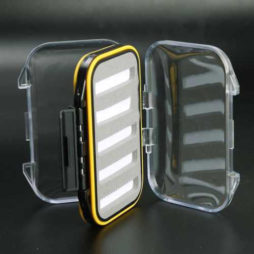 1pc Fly Fishing Box Double Side WaterProof Foam Case Bait Accessory