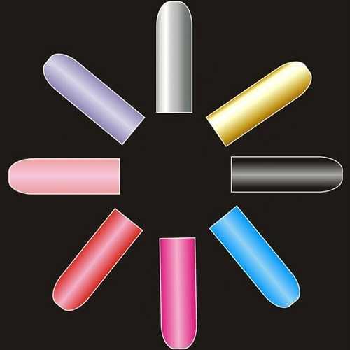 16 PCS Pure Colors Nail Art Polish Metal Full Stickers