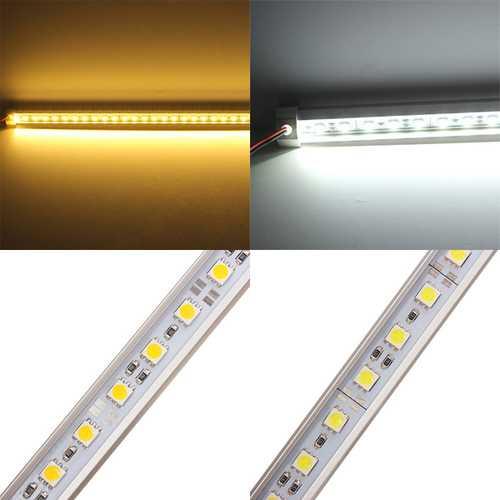 50CM 5050 9W 12V 36 SMD V-Shape Warm White/White LED Rigid Strip Light