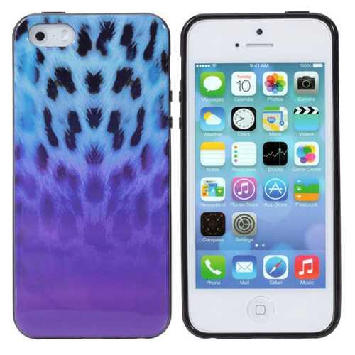 Color Leopard Grain Pattern TPU Defender Soft Case For iPhone5 5S
