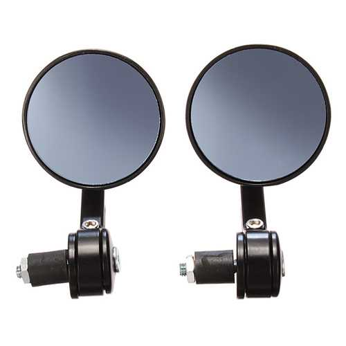 7/8 CNC Universal Motorcycle HandleBar Black Rear View Mirror