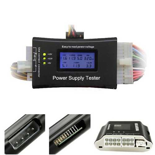 Digital LCD Power Supply Tester for PC  ATX/BTX/ITX 4Pin SATA HDD