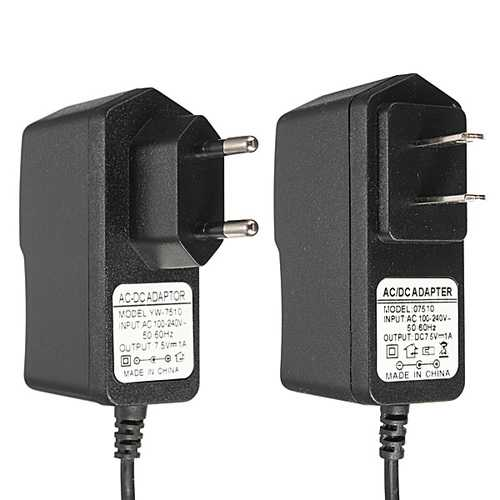 AC 100-240V DC 7.5V 1A 1000mA Power Supply Adapter Charger