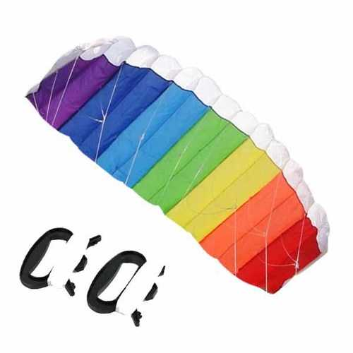 Nylon Line Soft plus material Parachute Rainbow Sports Beach Kite