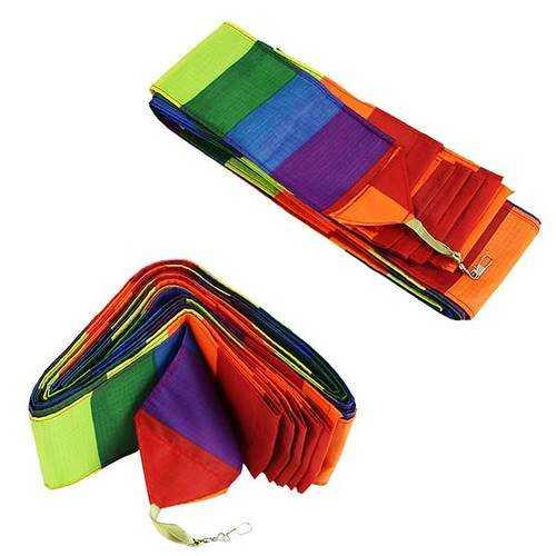 Colorful Rainbow Triangular Kite Flying Modern kite for children