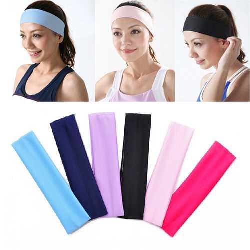 Honana BX-808 Elastic Ladys Plain Headbrand Yoga Bag Sport Wash Face Snood 6 Colors
