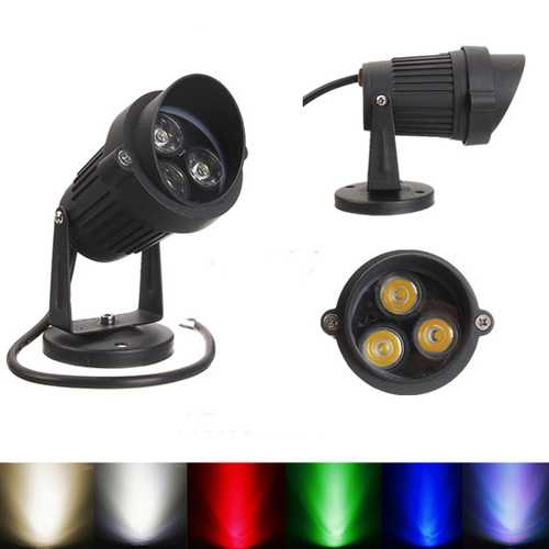 10W LED Flood Spotlight With Cap For Garden Yard Path IP65 AC 85-265V