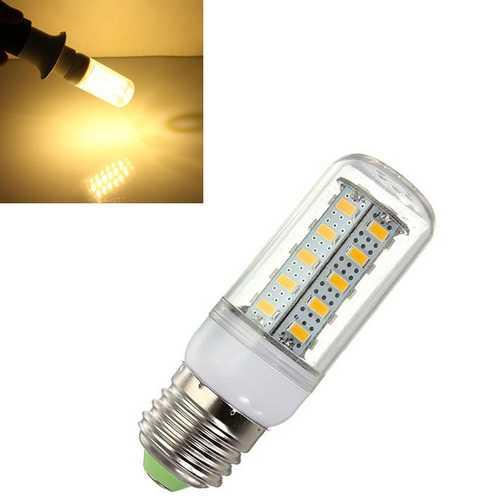 5X E27 LED Bulb 7W Warm White 36 SMD 5730 AC 220V Corn Light