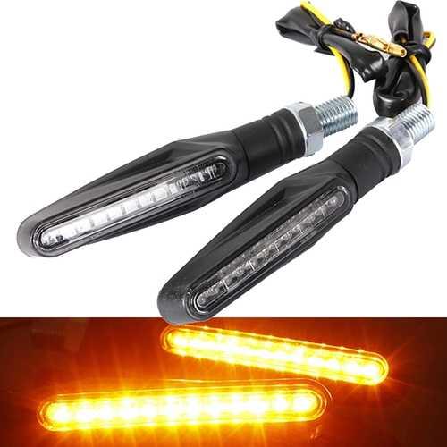 2pcs Motorcycle LED Turn Signal Indicator Blinkers Amber Lights