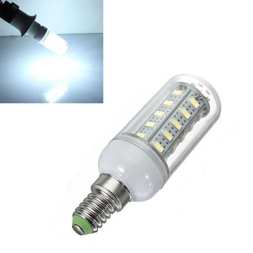 5X E14 7W White 36 SMD 5730 LED Corn Light Lamp Bulbs AC 220V