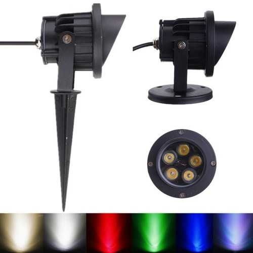 10W LED Flood Light With Rod & Cap For Garden Yard IP65 DC 12-24V