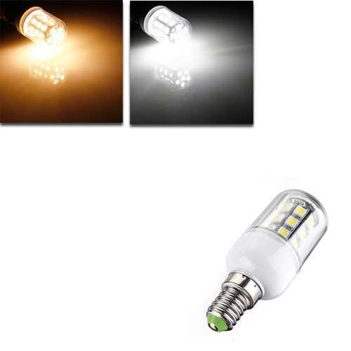 E14 LED Bulbs 12V 3W 27 SMD 5050 White/Warm White Corn Light